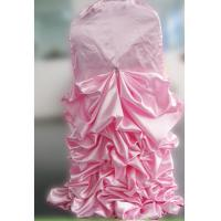 Wholesale ZEBO Spandex Ruffled Wedding Banquet Chair Covers Pink Color Excellent Elasticity from china suppliers