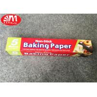 Wholesale Double Sides Silicone Coated Parchment Paper Roll 300mm×5m Size Food Wrapping / Baking from china suppliers