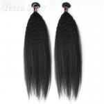 China 24 inch Burmese  Virgin Hair  / Yaki Straight Human Hair Extensions wholesale