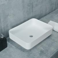 Wholesale Counter Top Rectangle Shape Stone Hand Basins For Hotel / Public from china suppliers