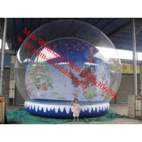 Christmas photo snow globe outdoor snow globe inflatable for Outdoor christmas globes