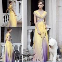 Wholesale printed cap sleeve ball prom gowns,  colorful knited ball gowns from china suppliers