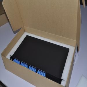 Wholesale 1x4 plc splitter 19' 1U Rack Box fiber optic splitter from china suppliers