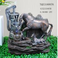 Wholesale Horse Animal Large Resin Water Fountain With Flashing Light 40 X 30 X 41 Cm from china suppliers