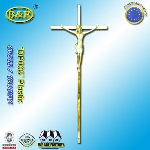 China Funeral cross plastic cross crucifix DP008 for coffin decoration Plasticos cruces con cristo size 45*19cm wholesale