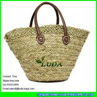 China LUDA elegant lady hand bag shoulder corchet seagrass straw shopping beach bag on sale