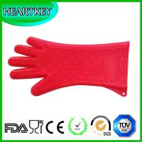 Buy cheap Silicone Heat Resistant BBQ Grill Oven Gloves for Cooking, Baking, Smoking & from wholesalers