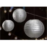 Wholesale 14 Printed Silver Gold Circle Paper Lanterns Handmade Craft For Cultural Garden from china suppliers