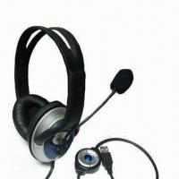 Wholesale 2.1 Channel Headphone with Microphone, USB Plug, Stero Sound and Speaker On/Off from china suppliers