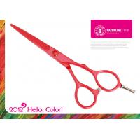 Wholesale Red Teflon Coating Convex-edge 56~57HRC Stainless Steel Professional Hair Cutting Scissors from china suppliers