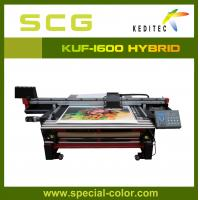 Buy cheap 1.6M uv flatbed and roll to roll,for outdoor printing.glass,wood, PET, PVC. from wholesalers