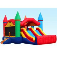Wholesale Party City Inflatable Bouncer Combo , Inflatable Bounce House Dual Castle from china suppliers