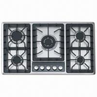Wholesale 5 Burners Gas Hob, Simple Design, Easy to Install and Clean from china suppliers