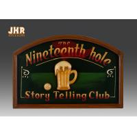 Wholesale Dark Green Club Wooden Wall Signs Antique Wall Art Signs Golf Club Wall Decor from china suppliers