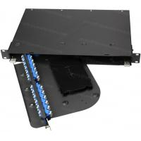 Buy cheap 1/2/3/4U Rotatable Rack Mount Patch Panel Max 192 Cores Metal material rotate from wholesalers