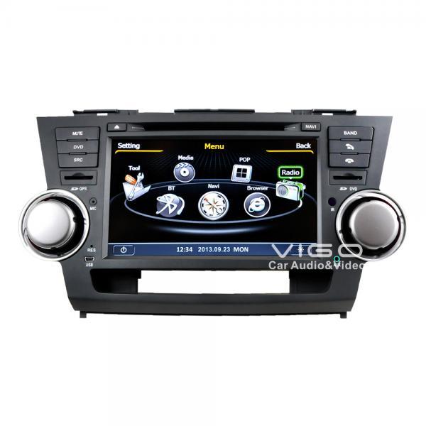 car stereo headunit multimedia sat nav dvd for toyota highlander c035 of item 98873476. Black Bedroom Furniture Sets. Home Design Ideas