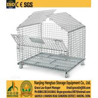 Wire Mesh Container  , Wire mesh cage with cover, metal wire basket with lids, galvanized wire mesh cage with mesh cover