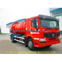 Wholesale 6x4 12m3 SINOTRUK HOWO 336hp Sewage Pump Truck With Safety Belts Tires12.00R20 With Middle lifting and Rear Cover from china suppliers