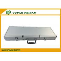 Wholesale Casino Sliver Aluminum Poker Chip Carrying Case Diamond Surface from china suppliers