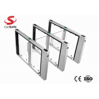 Wholesale AC speed stainless pedestrian gate with facial recognization/QR code infrared RFID reader low noise station access from china suppliers