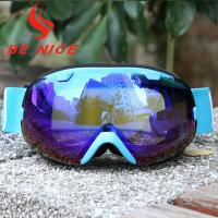 Wholesale Mirror Coating Anti Fog OTG Ski Goggles With Two Way Venting For Clear Vision from china suppliers
