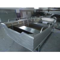 Wholesale Light Full Weled V Bottom Aluminum Boat For Fishing / Drifting , 4.2m Length from china suppliers