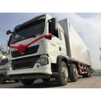Meat transport refrigerated box truck 6x4 266hp 25 t with frp sandwich