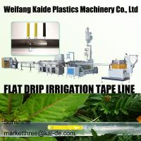 China 180m/mim Inline Flat Drip Irrigation Tape Production Line KAIDE factory wholesale
