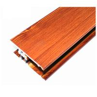Wholesale Square Wood Finish Aluminium Profiles , Different Colors Aluminium Framing Systems from china suppliers