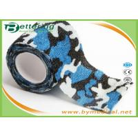 Wholesale Blue Colour Camouflage Printing Non Woven Cohesive bandage Pre Wrap for Army Camping Hunting from china suppliers