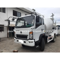 Wholesale HOWO 3cbm 5M3 Light Duty Commercial Trucks 4x2 Self Loading Concrete Mixer Truck from china suppliers