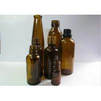 Buy cheap 20ml, 30ml Tawny Comestic Ampere Amber Glass Bottles For Medicial, Chemical from wholesalers