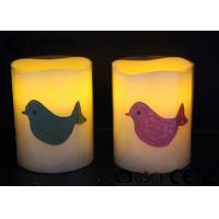 China Party decoration Real Wax led Candles with bird pattern ,  Carving led candle wholesale