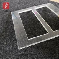 China China factory custom 3mm tempered cut-out polished glass bezel plate for switch socket panel on sale
