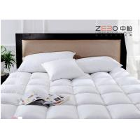 Wholesale Square Pattern Health Hotel Mattress Topper With Zipper Stain Resistant 400gsm from china suppliers