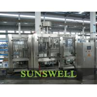 China 3 In 1 Water Carbonated Filling Machine With Washer / Filler / Capper wholesale