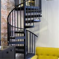 Quality Indoor Carbon Steel Handrail Glass Spiral Staircase For Sale