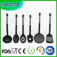 Quality BPA free transparent silicone non-stick kitchen cooking utensils spatula tools for sale