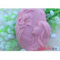 China Reusable Girl Flower shaped DIY Silicone Soap Molds For Soap Making wholesale