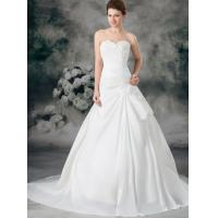 Wholesale Bridal Taffeta Ruffle A Line Strapless Sweetheart Empire Line Wedding Dresses from china suppliers