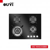 Wholesale OUYI Black Tempered Glass 4 Different Size Sabaf Burner Gas Stoves from china suppliers