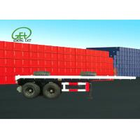 Wholesale Dual Air Brake System Flat Deck Utility Trailer High Strength Low Alloy Steel Material from china suppliers