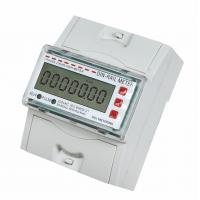 China Tamper Proof Single Phase DIN Rail Type Energy Meter / KWH Meters for Residential application on sale