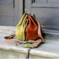 Wholesale leather woman bag baggy shape Maja multicolor Ladybuq art design from china suppliers