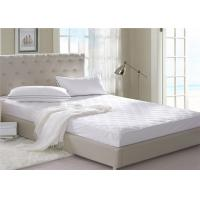Wholesale 140GSM 100% Cotton Hotel Collection Mattress Pad Customized Size from china suppliers