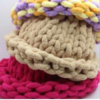 Wholesale baby carpet yarn eco friendly ice polyester chenille hand knitting yarn from china suppliers