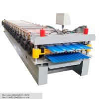 China Double Layers Steel Sheet Roll Forming Machine Tile Forming Machine 7.5 Kw on sale