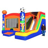 Wholesale Sport Themed Inflatable Bouncer Combo Jumper With Slide Double Stitching Fireproof from china suppliers