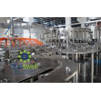 China Automated soda water bottling 3-in-1 carbonated filling monoblock machines and equipment wholesale