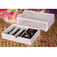 Quality Cute White Wooden Jewelry Organizer Box, Customized Jewelry Gift Boxes for sale